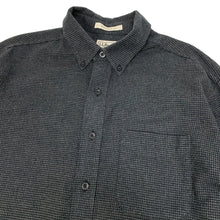 Load image into Gallery viewer, L.L.Bean L/S Flannel Houndstooth Shirt
