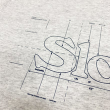 "Load image into Gallery viewer, SLON Blueprint Logo S/S Tee ""Ash"""