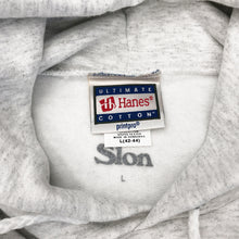 "Load image into Gallery viewer, SLON Puff Screen Printed Classic Logo Hoodie ""Ash"""