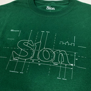 "SLON Blueprint Logo S/S Tee ""Green"""