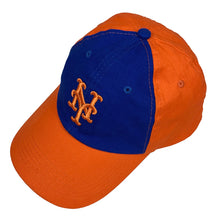 "Load image into Gallery viewer, New York Mets x Nathan's Famous Hot Dogs & Restaurants Vintage Cap ""Blue x Orange"""