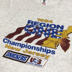 adidas Soccer 1994 REGION ONE Championships Official Vintage S/S Tee