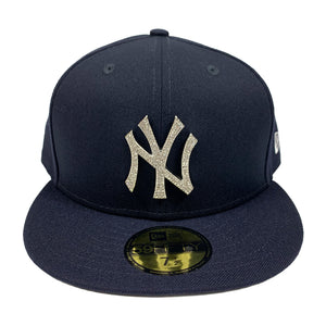 "New York Yankees New Era 59FIFTY Fitted Cap ""Diamond Rhinestone - Silver"""