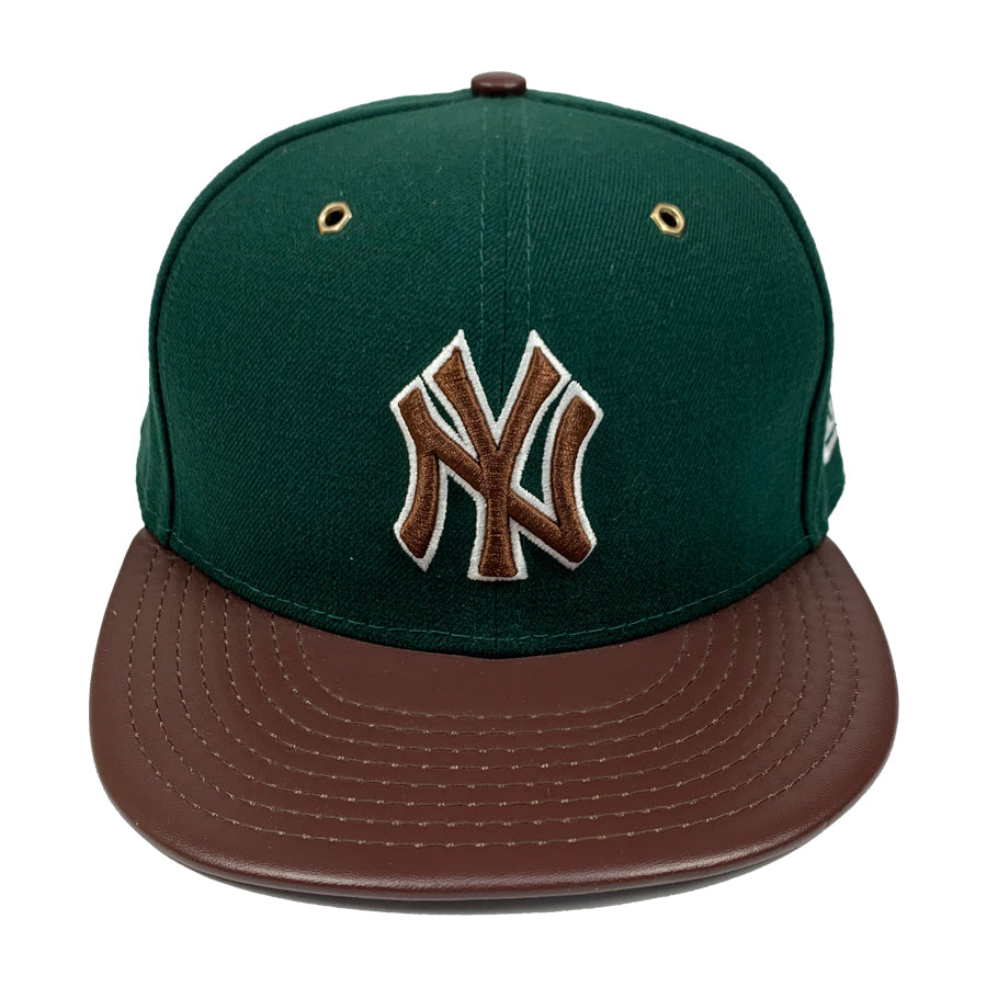 New York Yankees New Era 59FIFTY Leather Fitted Cap