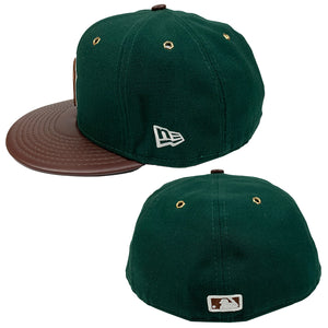 "New York Yankees New Era 59FIFTY Leather Fitted Cap ""Beef & Broccoli"""