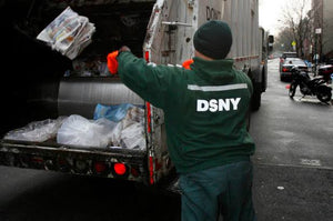 "DSNY New York City Department of Sanitation Official Employee Knit Beanie ""Neon Yellow"""