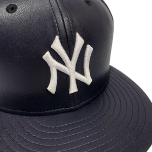 "New York Yankees 59FIFTY Fitted Cap ""Dark Navy Leather"""