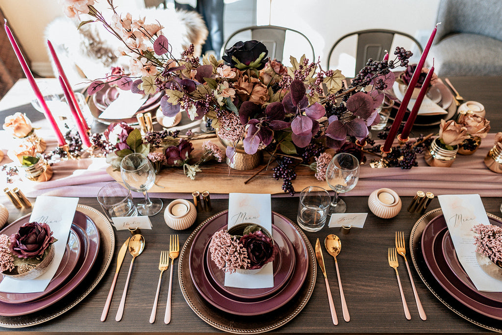 Woodland Floral Tablescape