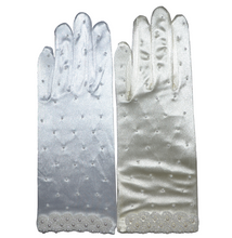 Load image into Gallery viewer, Satin Gloves with Beads - 9''