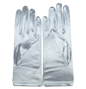 Satin Gloves with Beads - 9''