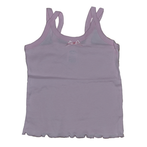 Girls Split Strap Tank Top with Built-In Chest Support - Size 8-12