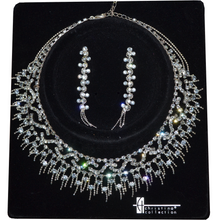 Load image into Gallery viewer, Rhinestone Choker Set