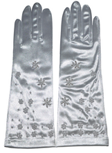 Load image into Gallery viewer, Beaded Satin Gloves - 10.5''