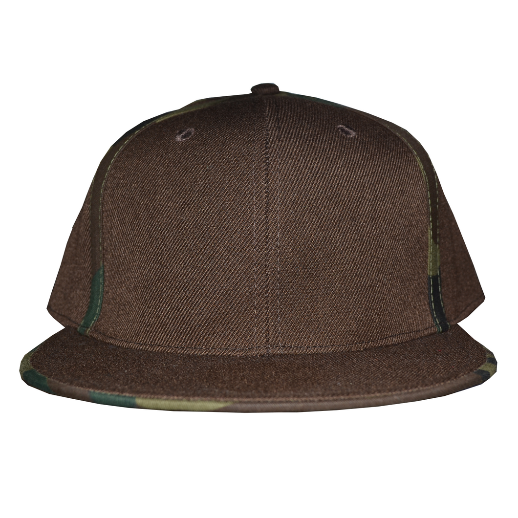 Fitted Cap with Striped Camouflage
