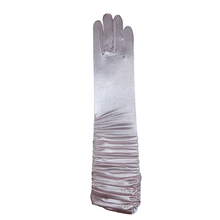 Load image into Gallery viewer, Long Wrinkled Satin Gloves - 14''