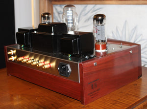 Juno 20, Class A, Point to Point Amplifier with Auricap / Nichicon Caps and Walnut / Wenge Wood Chassis