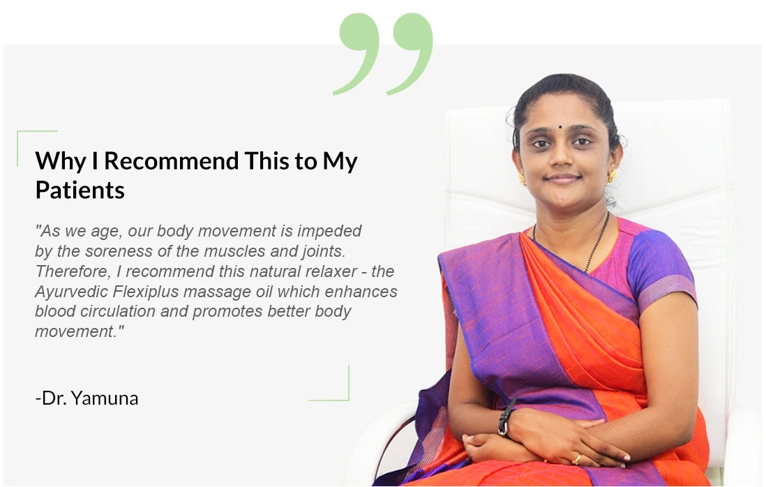 Dr.Yamuna-recommending-flexiplus-for-muscle-joint-knee-leg-pains