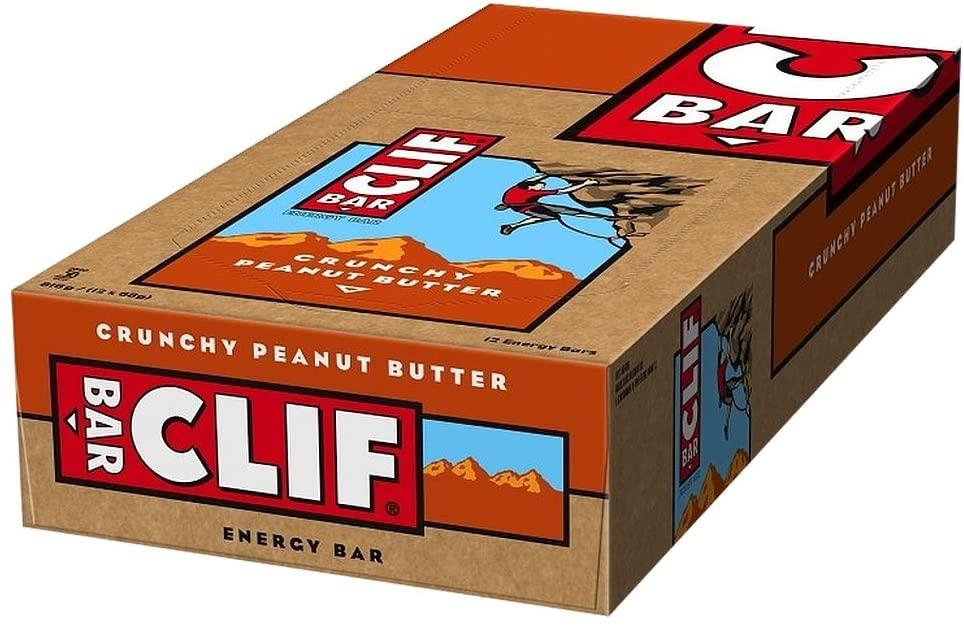 Clif Bar Energy Bar Crunchy Peanut Butter 68 g (Pack of 12) - RRP £22