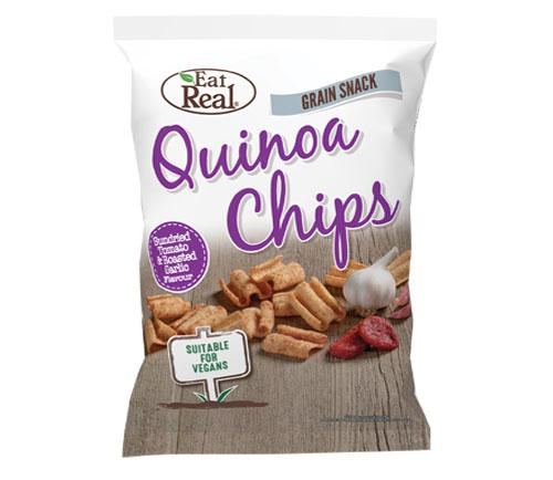 Eat Real Quinoa Tomato and Roasted Garlic Chips 80g - Large Bag
