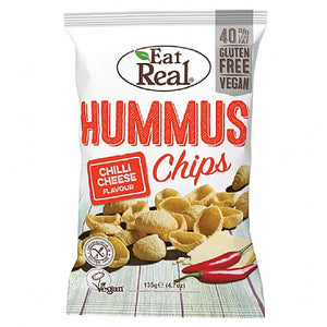Eat Real Hummus Chilli Cheese Chips 113g - Large Bag