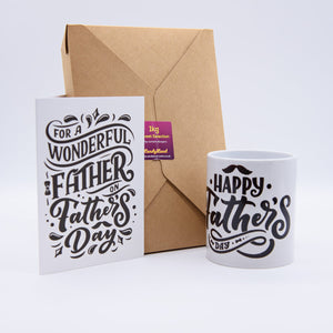 You're My Hero - Fathers Day Mug, Card & Sweets Bundle