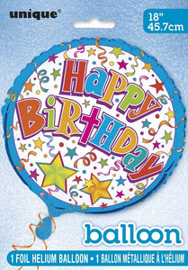 "18"" Happy Birthday Foil Balloon (Flat)"