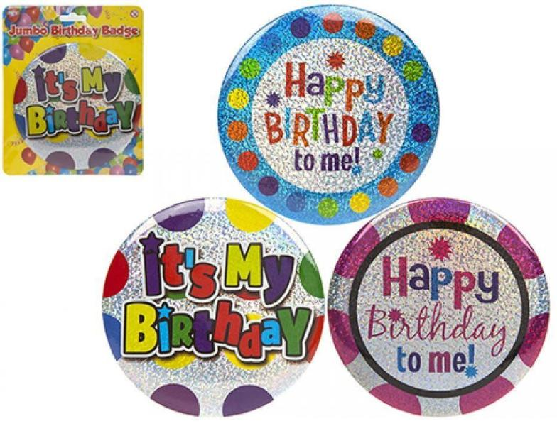 Jumbo Happy Birthday Badge