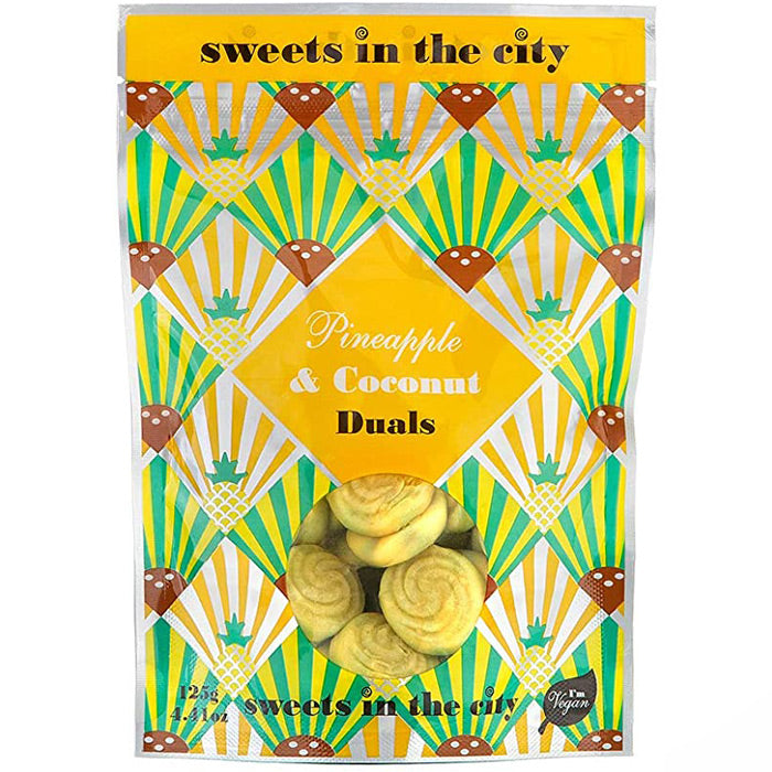 Sweets in the City - Pineapple & Coconut Duals - 50g Grab Bag