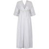 1920s Whitework and Embroidered Eyelet and Satin Work Nightdress
