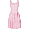 1950s Pink and White Gingham Cheque Sequined Dress