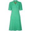 1970s Ted Lapidus Green Linen Double Breasted Shirt Dress