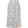 1980s Celine Primary Colours Floral Print Skirt