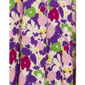 ARCHIVE - 1930s Purple Floral Rayon Gown