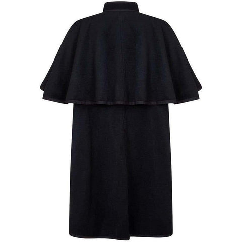 Yves Saint Laurent 1970s Black Wool Two Way Cape With Wool Braid Trims