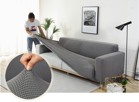 light grey couch cover