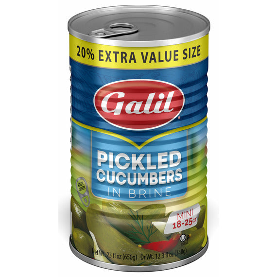 Galil Cucumber Pickles 18-25 Brine | Pack of 12 - Shop Galil