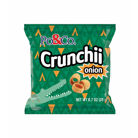 Po & Co. Crunchii Onion | Pack of 12 x 12 bags - Shop Galil
