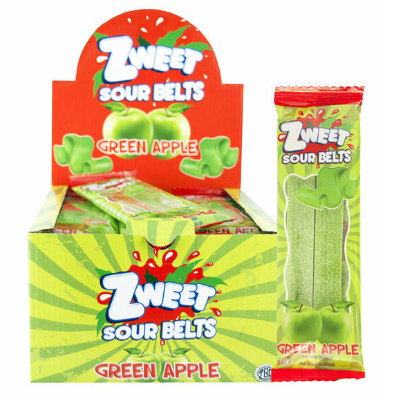Zweet Sour Belts Apple | Pack of 24 - Shop Galil