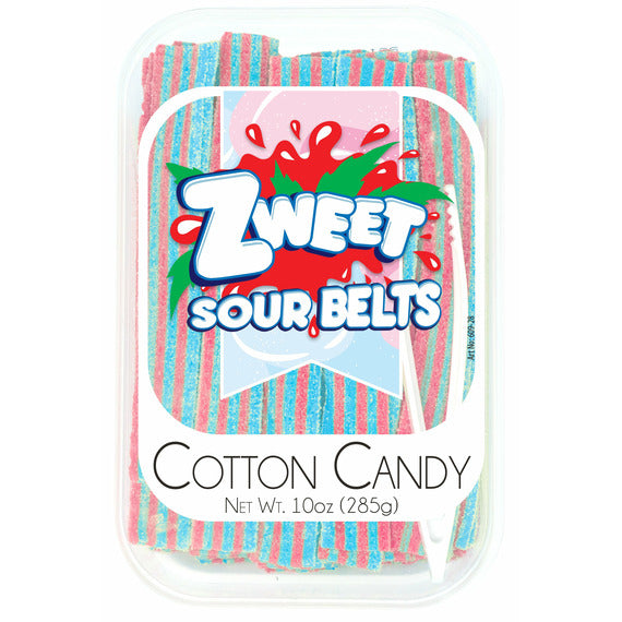 Zweet Sour Belts Cotton Candy | Pack of 6 - Shop Galil