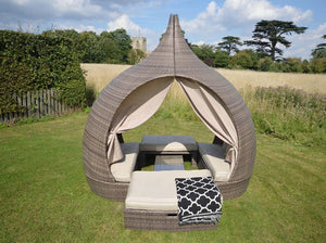 Cannes Luxury Grey Rattan Day Bed
