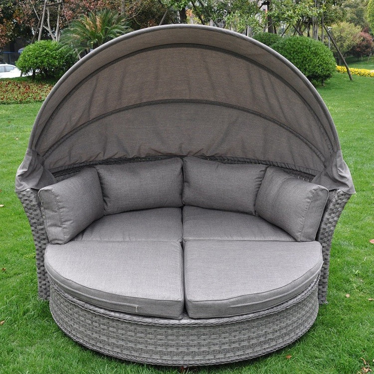Dieppe Grey Hooded Day Bed