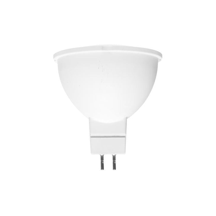 Lámpara LED óptica 38° base MR16 110-130 V ca 8 W blanco de plástico acabado blanco para interiores