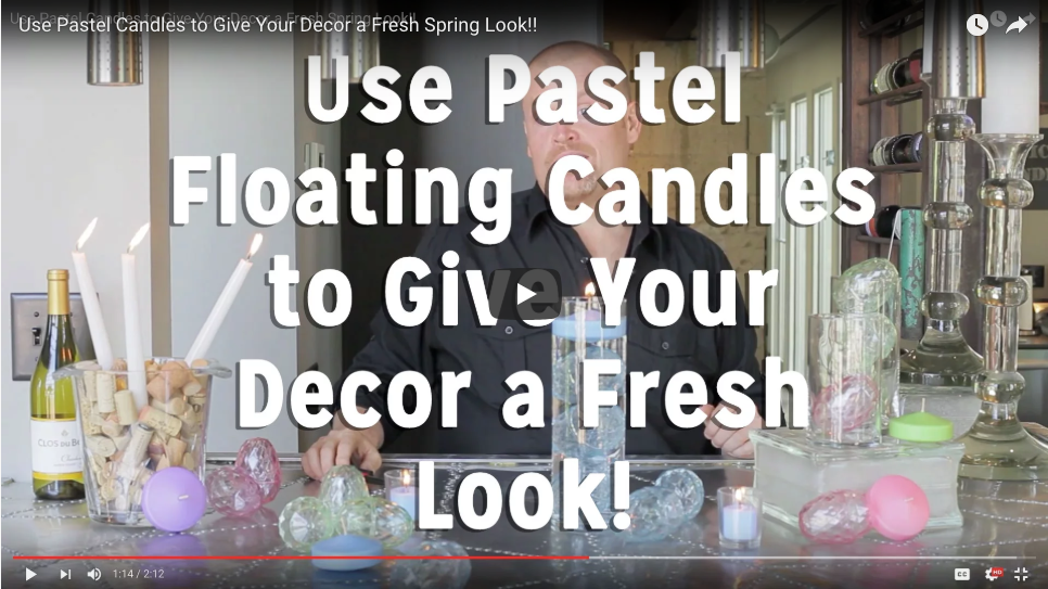 Pastel Floating Candles Give Your Décor a Fresh Spring Look!