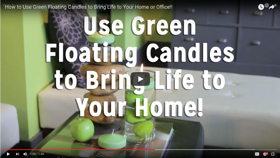Use Green Floating Candles to Bring Life to Your Space!