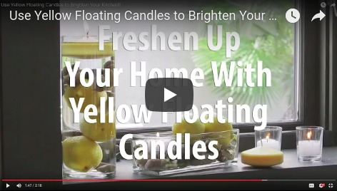 Decorate Using Yellow Floating Candles!