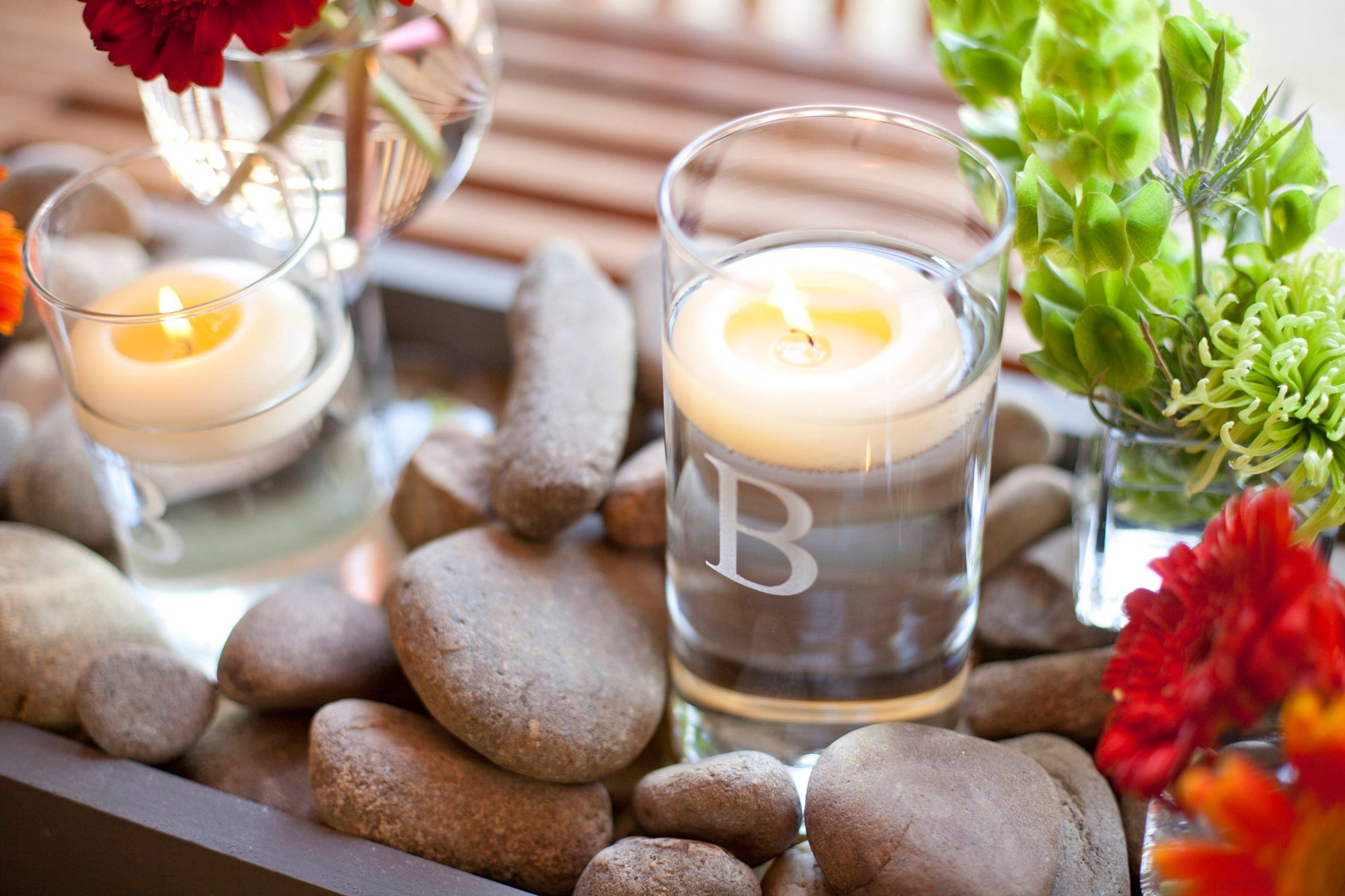 A Fresh Look with Ivory Floating Candles!