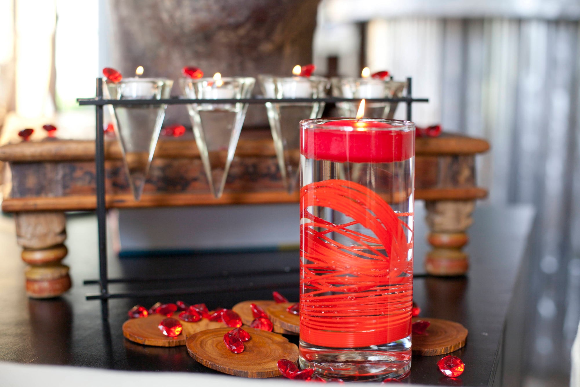 Create Fun Looks With Red Floating Candles Using Unexpected Items!