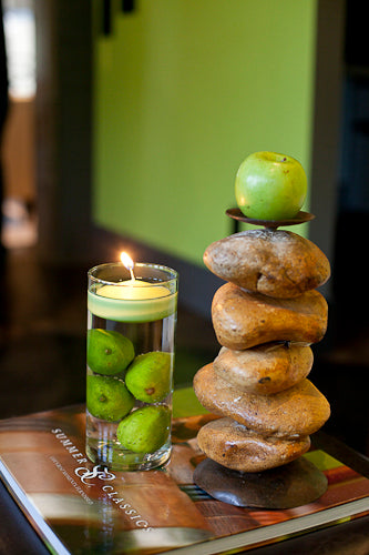 Green Floating Candles