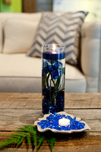Blue Floating Candles