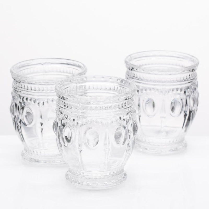 Richland Vintage Charm Candle Holder Clear Set of 6